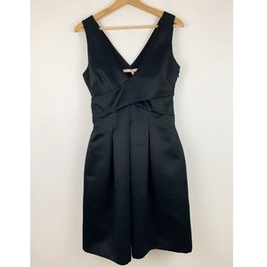 Halston Heritage Black Full Skirt Dress 4 Cocktail